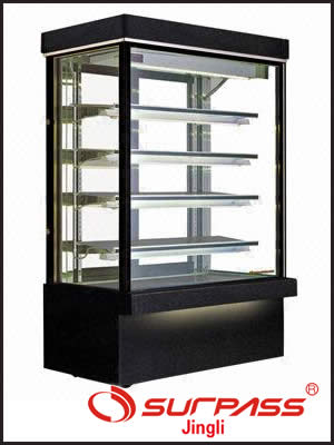 Jingly Surpass Upright Cake Display Cupboard - Granite Base