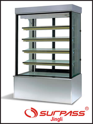 Jingly Surpass Upright Cake Display Cupboard - Stainless Steel Base
